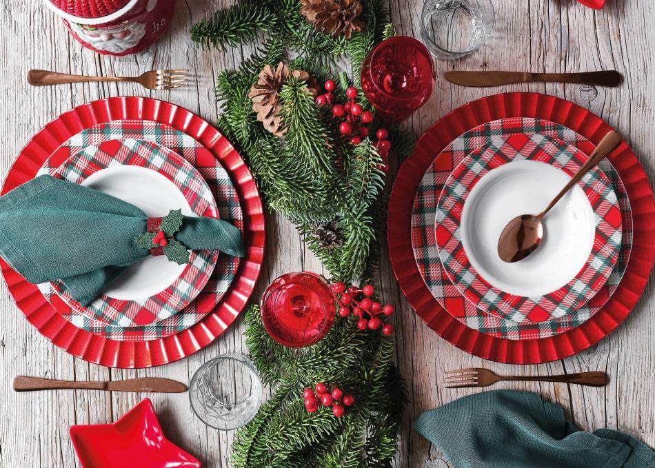 Decorazioni Natalizie Tavola.Linee Natale Per La Casa Per Addobbare La Tavola Natalizia E Idee Regalo Per Natale Tognana